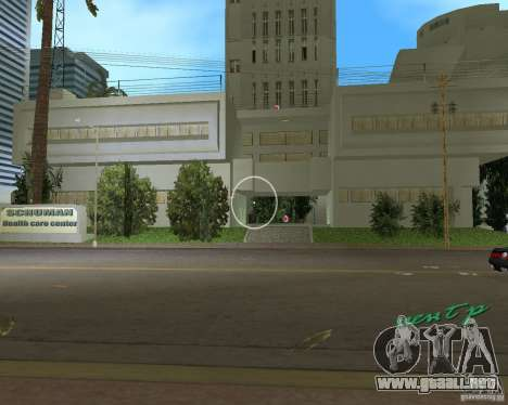New Downtown: Hospital and scyscrap para GTA Vice City segunda pantalla