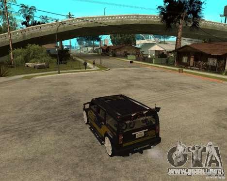 H2 HUMMER DUB LOWRIDE para GTA San Andreas left