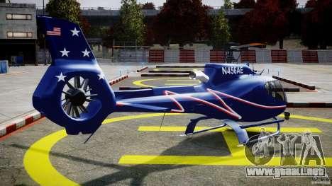 Eurocopter EC130B4 NYC HeliTours REAL para GTA 4 vista lateral