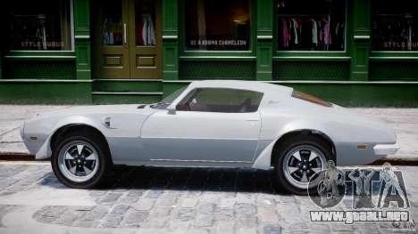 Pontiac Firebird Esprit 1971 para GTA 4 Vista posterior izquierda