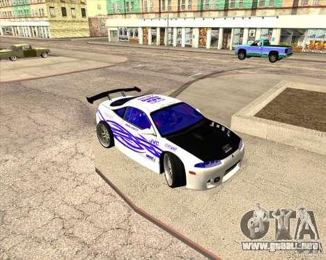Mitsubishi Eclipse street tuning para la vista superior GTA San Andreas