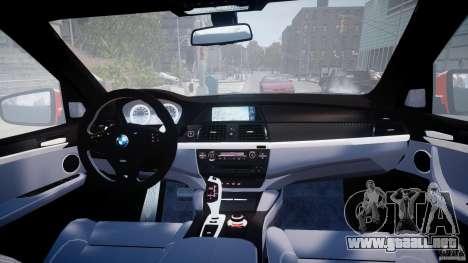 BMW X5M Chrome para GTA 4 vista desde abajo