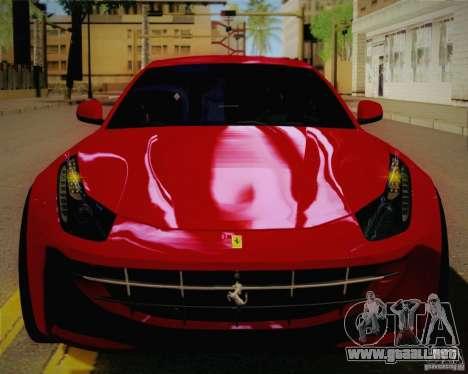 Ferrari FF Sport 2011 para GTA San Andreas vista hacia atrás