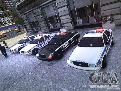 Ford Crown Victoria NYPD 2012 para GTA 4 vista superior