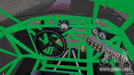 Grave digger para GTA 4 vista hacia atrás