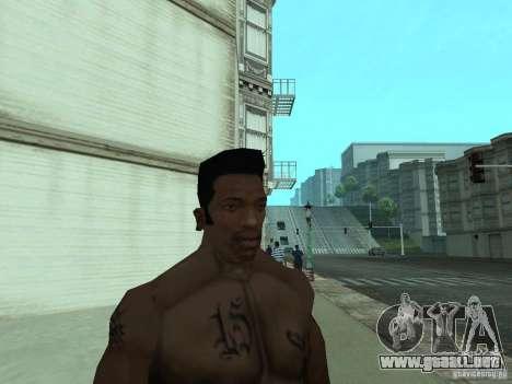 LA NUEVA CARA DE CJ para GTA San Andreas octavo de pantalla
