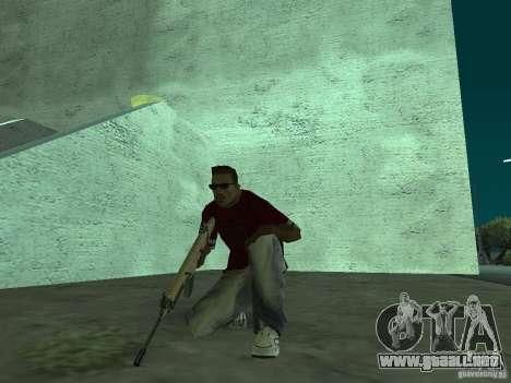 FN Scar-L HD para GTA San Andreas sexta pantalla