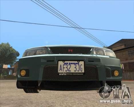 Nissan Skyline GT-R BNR33 para GTA San Andreas left