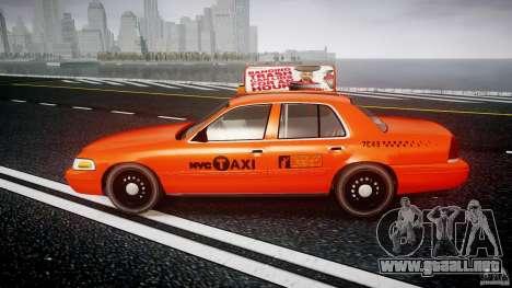 Ford Crown Victoria 2003 v.2 Taxi para GTA 4 left