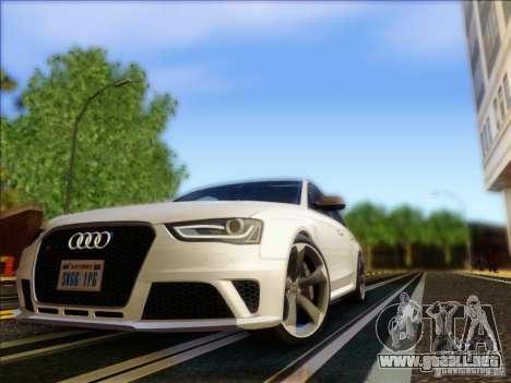 Audi RS4 Avant B8 2013 para GTA San Andreas left