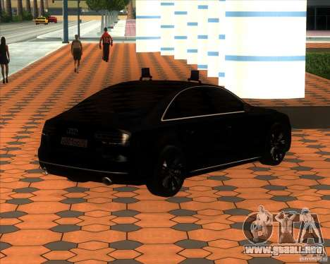 Audi A8 2010 v2.0 para visión interna GTA San Andreas
