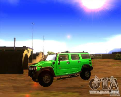 Hummer H2 updated para GTA San Andreas left