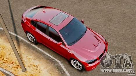 BMW X6 M 2010 para GTA 4 visión correcta