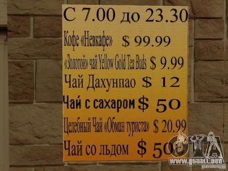 Nuevo Burgershot: ČajničeG oro para GTA San Andreas sucesivamente de pantalla