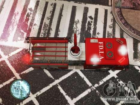 New LCFD Car para GTA 4 vista hacia atrás