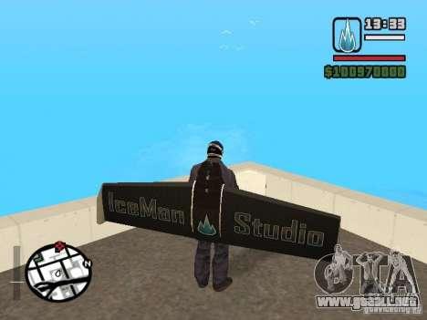 Jetwing Mod para GTA San Andreas sucesivamente de pantalla