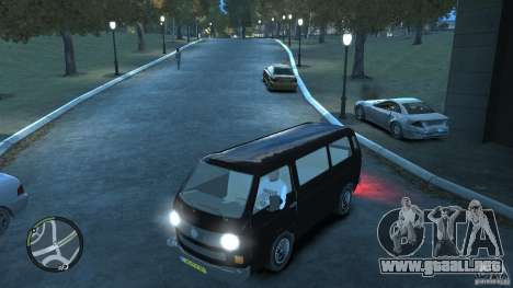 Volkswagen Transporter T3 para GTA 4 vista desde abajo