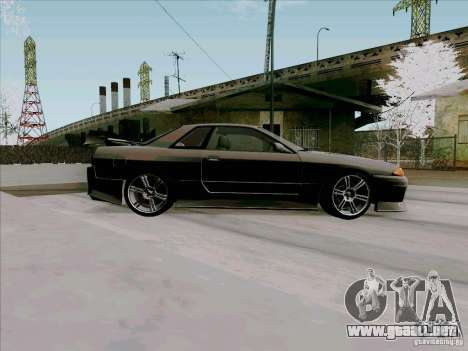 Nissan Skyline GTS-T para GTA San Andreas vista hacia atrás