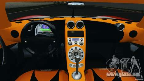 Koenigsegg CCX 2006 v1.0 [EPM][RIV] para GTA 4 vista hacia atrás