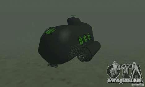 Submarino para GTA San Andreas vista posterior izquierda