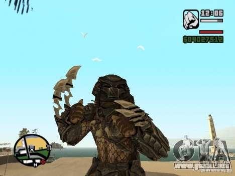 Predator Predator (la máscara) para GTA San Andreas segunda pantalla