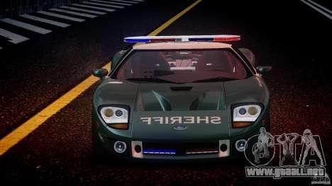 Ford GT1000 Hennessey Police 2006 [EPM][ELS] para GTA 4 vista desde abajo