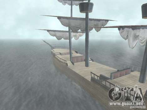 Barco pirata para GTA San Andreas segunda pantalla