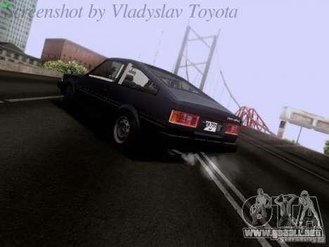 Toyota Corolla TE71 Coupe para la visión correcta GTA San Andreas