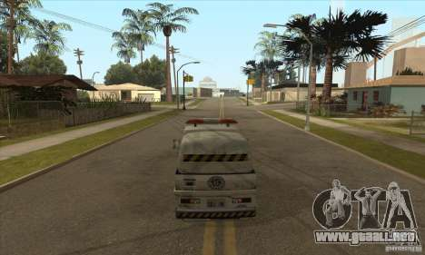 Barrendero de trabajo para GTA San Andreas sucesivamente de pantalla