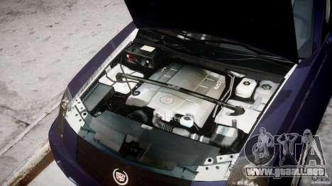 Cadillac CTS para GTA 4 vista hacia atrás