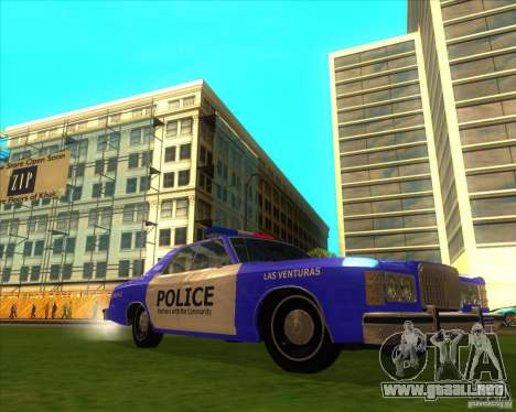 Ford Custom 500 4 door police 1975 para GTA San Andreas left