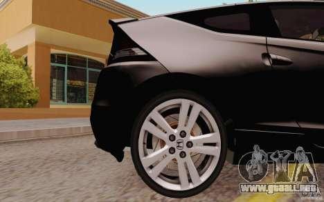 Honda CR-Z 2010 V3.0 para GTA San Andreas vista hacia atrás