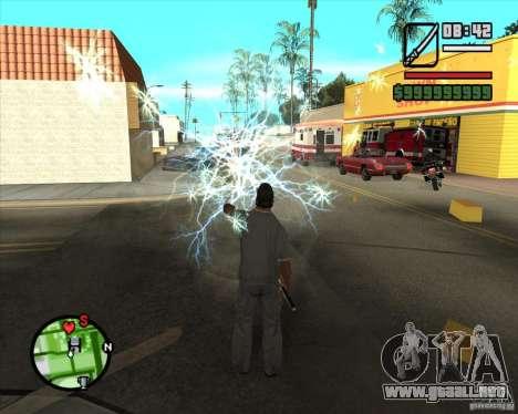 Chidory Mod para GTA San Andreas quinta pantalla