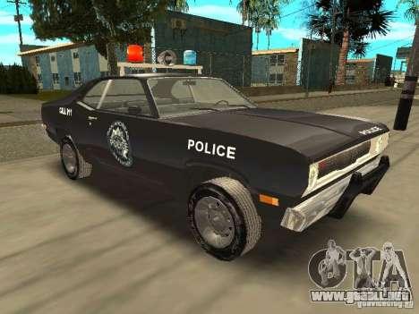 Plymout Duster 340 POLICE v2 para GTA San Andreas vista hacia atrás