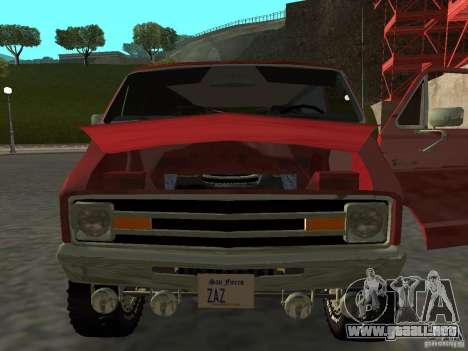 Dodge Tradesman 7z para GTA San Andreas vista posterior izquierda