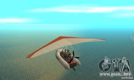 Wingy Dinghy (Crazy Flying Boat) para GTA San Andreas vista posterior izquierda