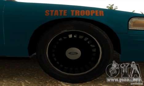Ford Crown Victoria Georgia Police para GTA San Andreas vista posterior izquierda