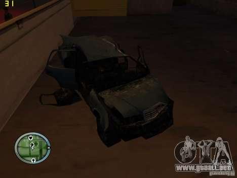 Autos rotas en la calle Grove para GTA San Andreas novena de pantalla
