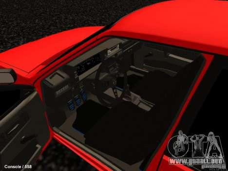 VAZ 2109 Opera Turbo para visión interna GTA San Andreas