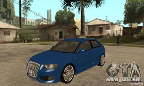Audi S3 2007 - Stock para GTA San Andreas