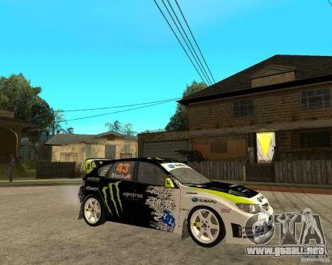 Ken Block Subaru Impreza WRX STi 2009 para la visión correcta GTA San Andreas