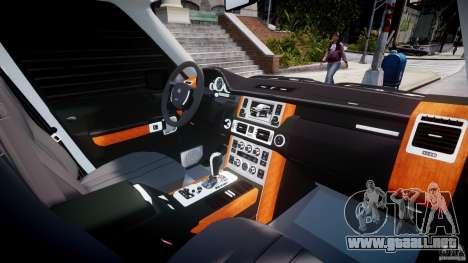 Range Rover Supercharged 2009 v2.0 para GTA 4 vista superior