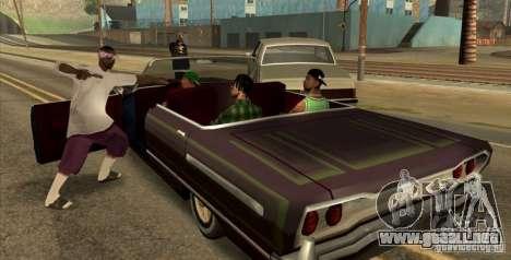 Wars Zones para GTA San Andreas segunda pantalla