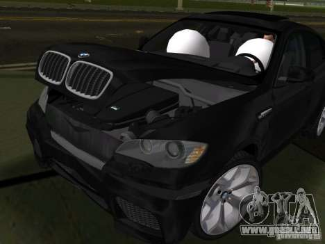 BMW X6M para GTA Vice City vista interior