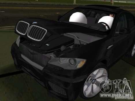 BMW X6M para GTA Vice City vista interior