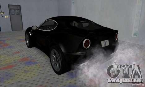 Alfa Romeo 8C Competizione para la visión correcta GTA San Andreas