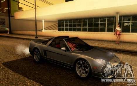 Acura NSX Targa para GTA San Andreas vista hacia atrás