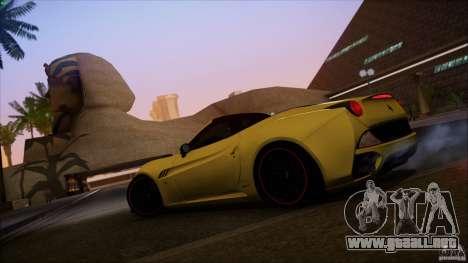 Ferrari California para visión interna GTA San Andreas