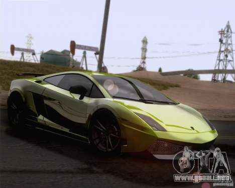 Lamborghini Gallardo LP570-4 Superleggera 2011 para la vista superior GTA San Andreas