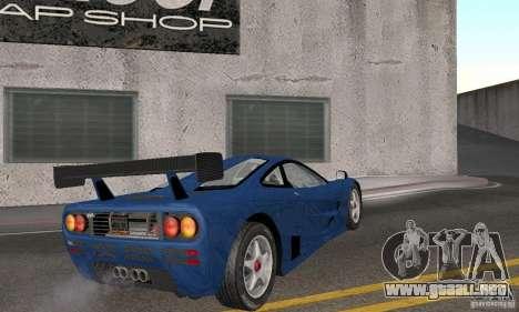 Mclaren F1 GTR (v1.0.0) para la visión correcta GTA San Andreas